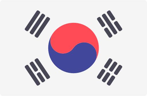 Koreanische Flagge für koreanische technische Übersetzungen