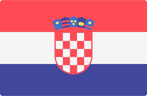 Kroatische Flagge für kroatische technische Übersetzungen